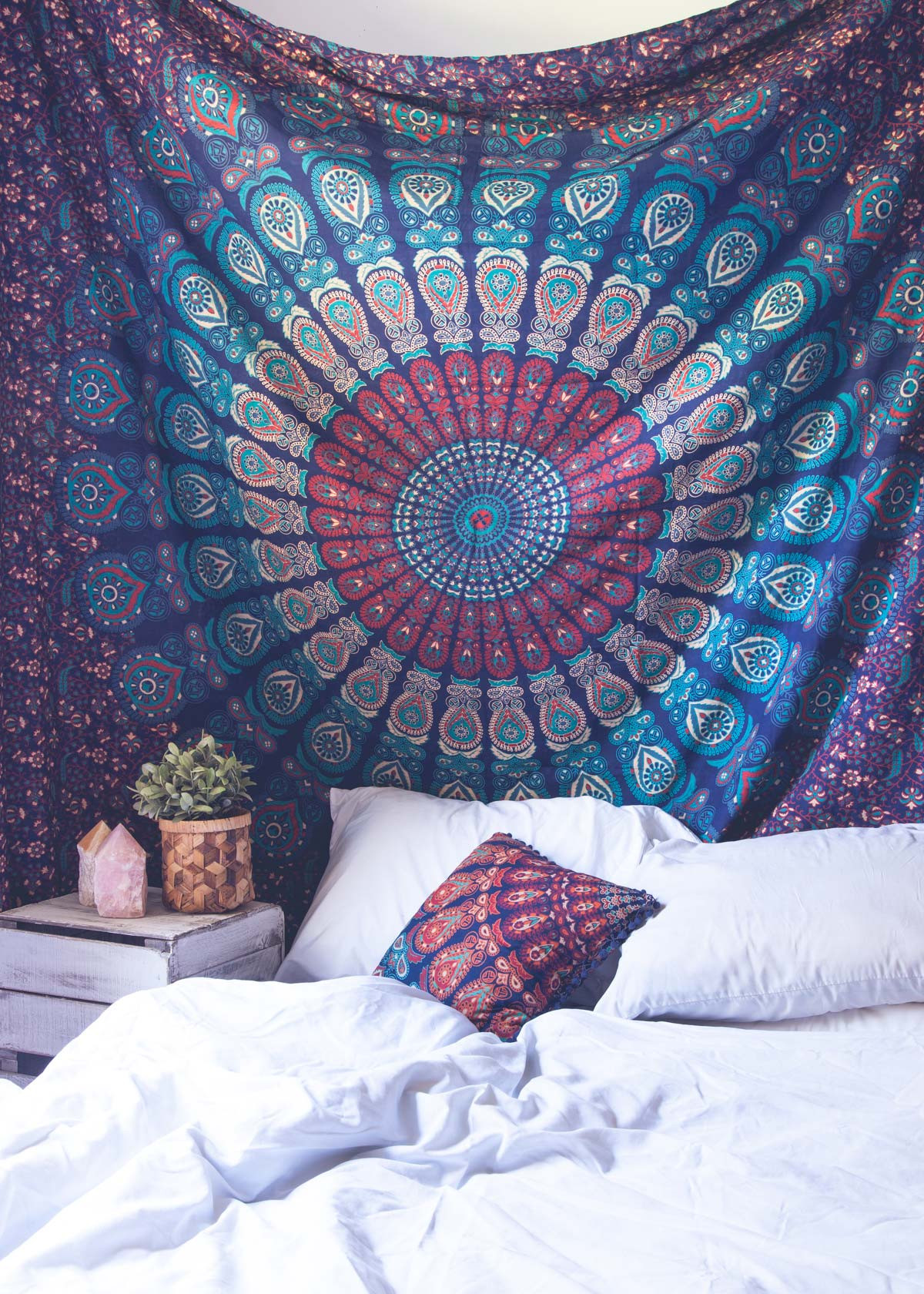 jaipur large hippie hanging ethnic multi products decorative inches dorm decor tapestries mandala handloom psychedelic room bohemian indian hippy blue wall color medallion tapestry jaipurhandloom