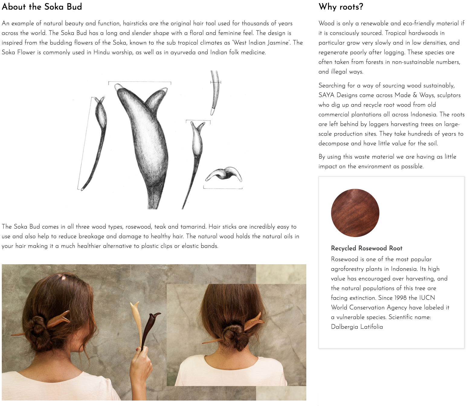 About the Soka Bud hairstick