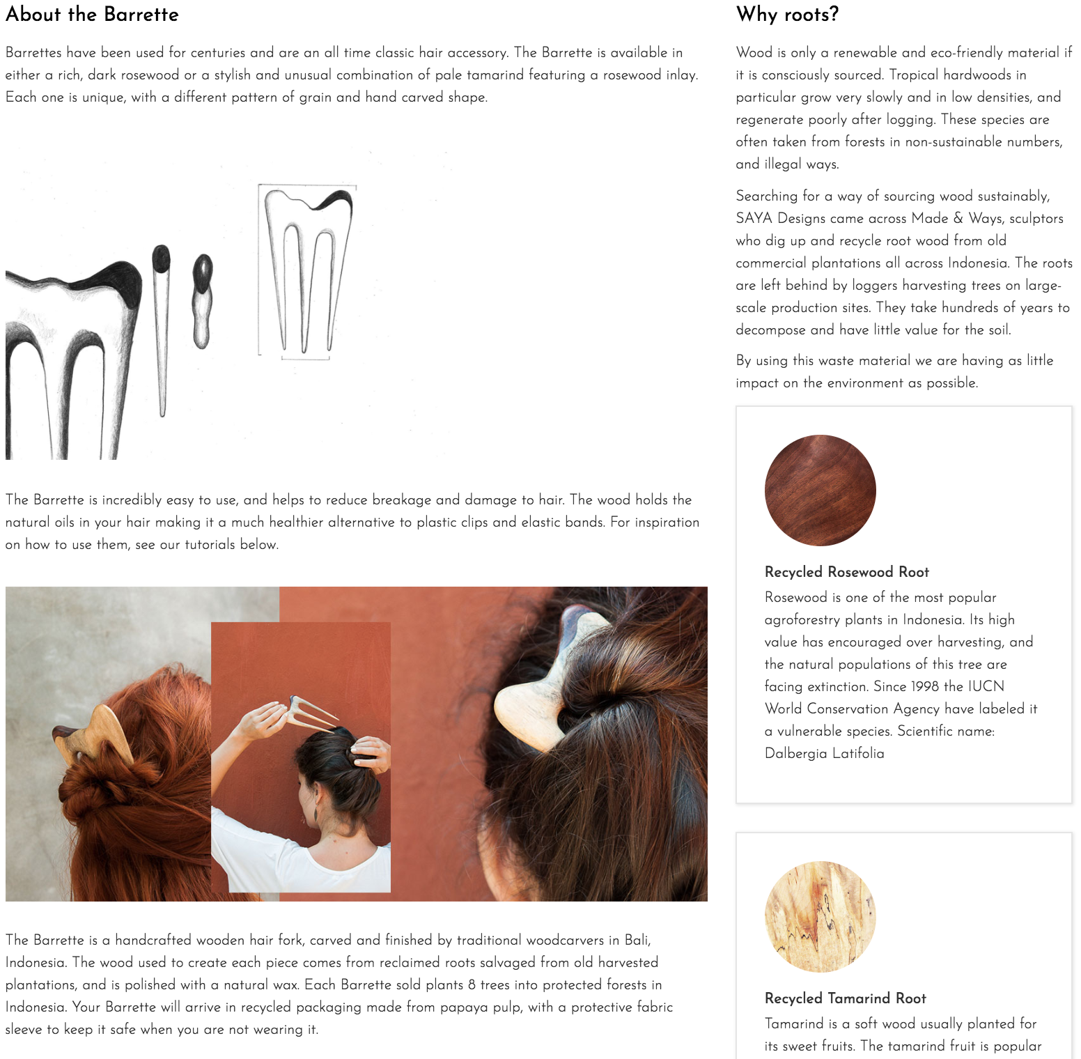 About the Barrette Hair Fork