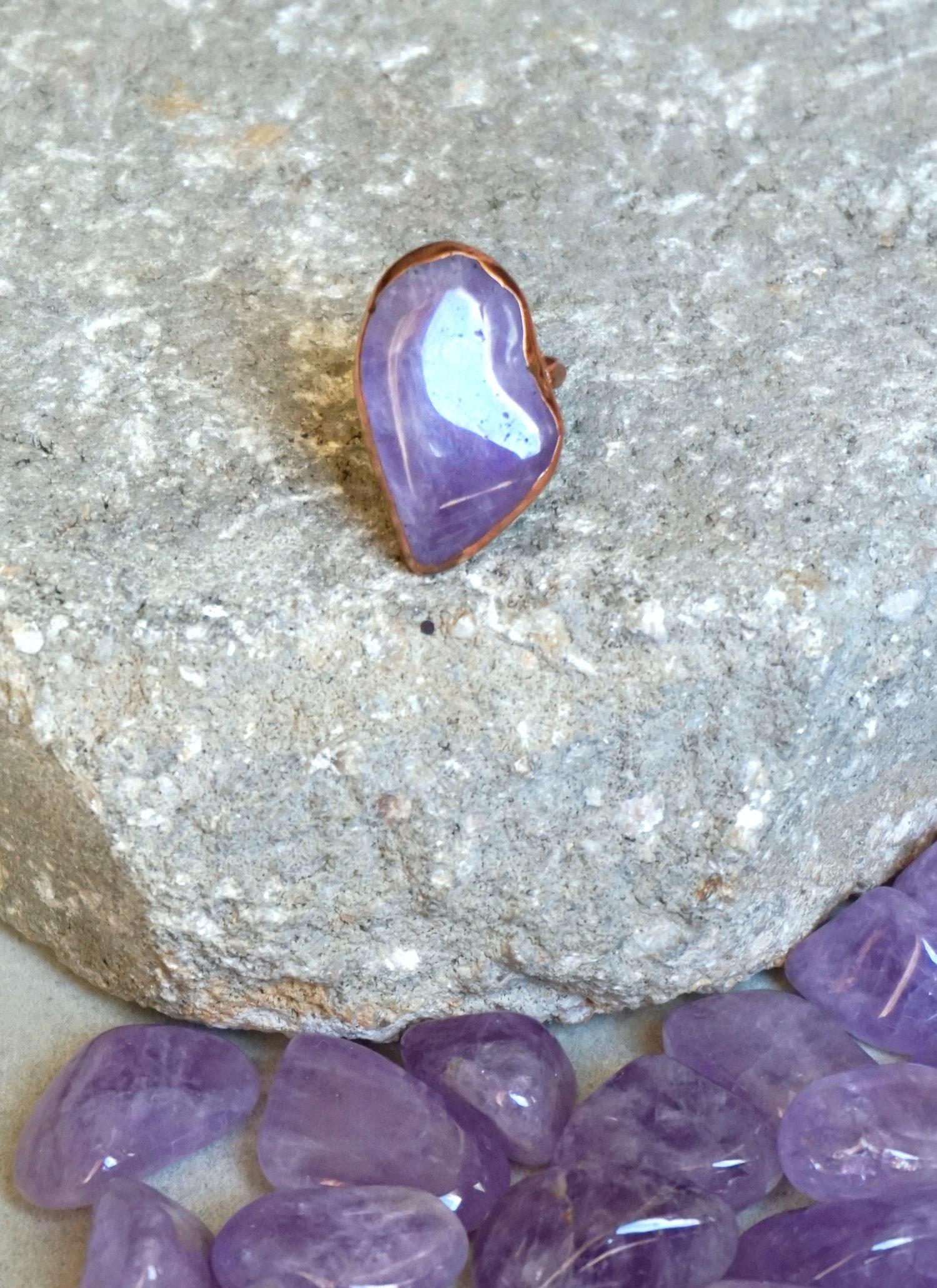 Electroform single stone ring-min