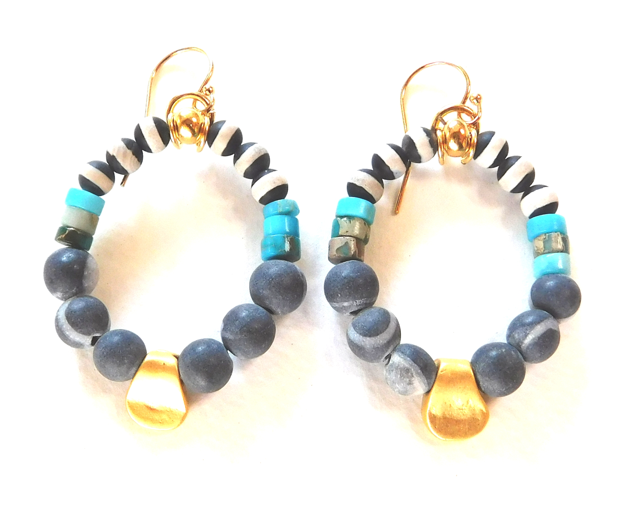 gold nugget hoops