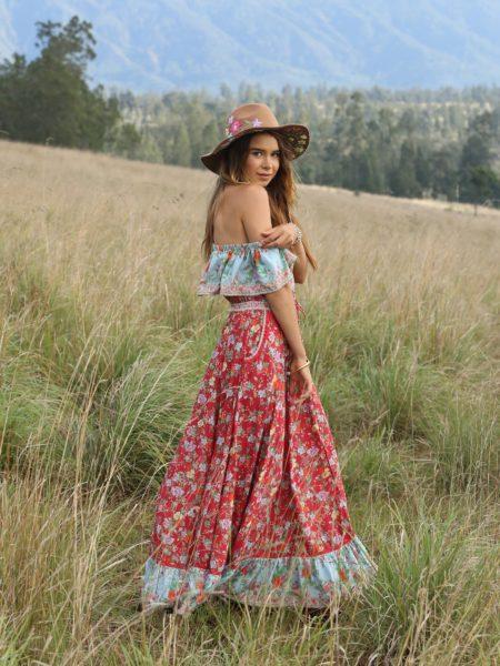 Hosannah Maxi Dress – Rococo Red