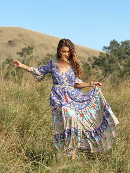 Havillah Maxi Dress – Lapis Lazuli