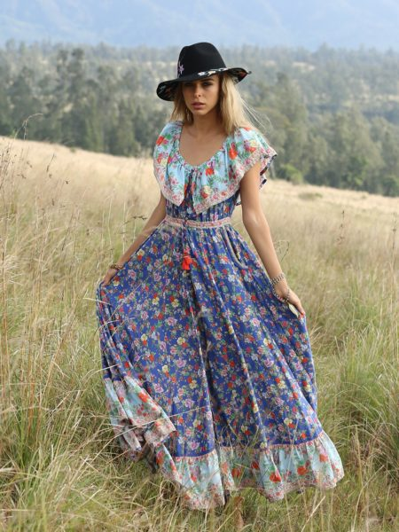 Hosannah Maxi Dress – Lapis Lazuli