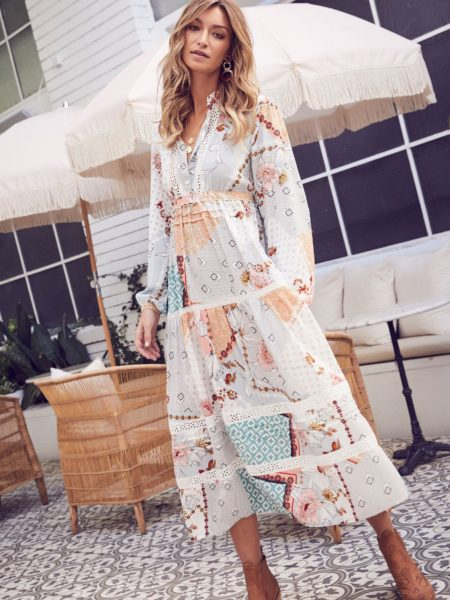 FREYA MAXI DRESS IN MAISIE PRINT