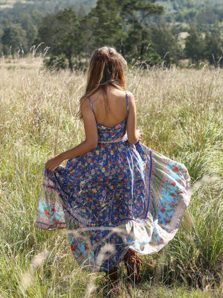 Ravennah Maxi Dress – Lapis Lazuli