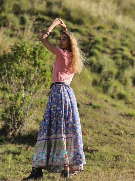 Ravennah Maxi Skirt – Lapis Lazuli