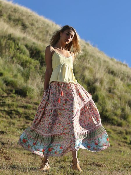 Ravennah Maxi Skirt – Lotus