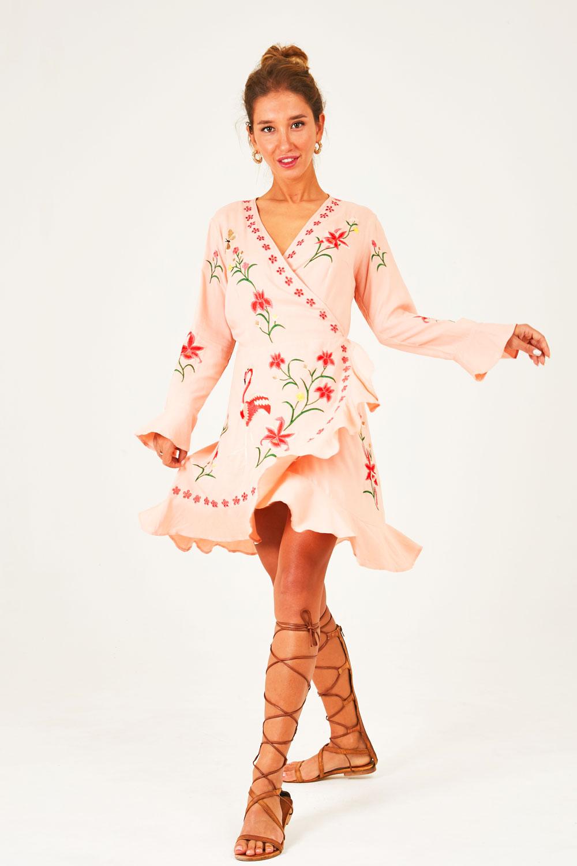 Felicity Free Spirit Mini Wrap Dress