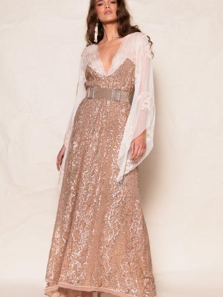 LEUCIPPE SEQUINED DRESS