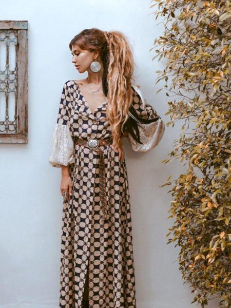 PHOEBE LINEN KIMONO DRESS