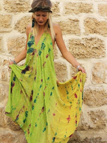 Ombre Tropics Udana Maxi Dress – Yellow, Green