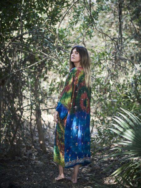 Amazon Maxi Kimono – Blue, Red, Green
