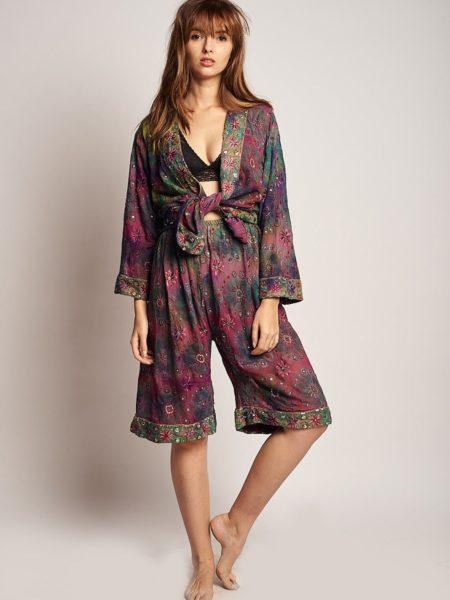 Shanti Set – High Waisted Shorts and Kimono