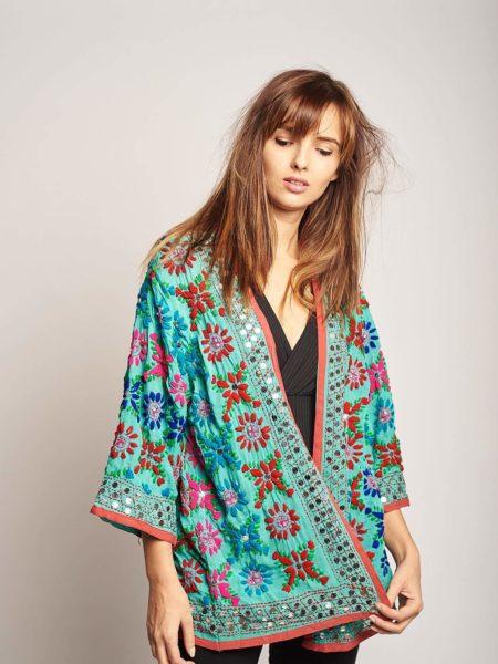 Lamu Kimono – Blue, Pink, Sequined
