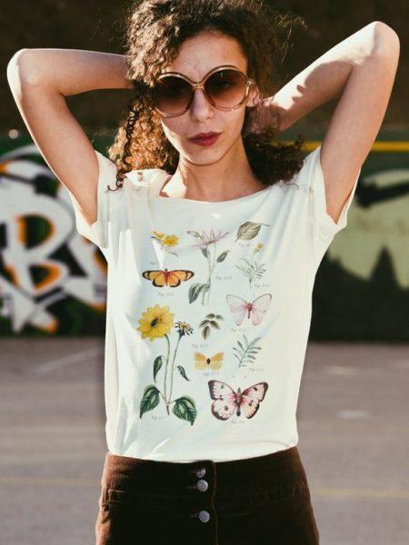 botanical women's graphic tshirt