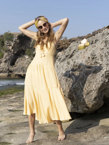 Marbella Midi Dress – Golden Haze