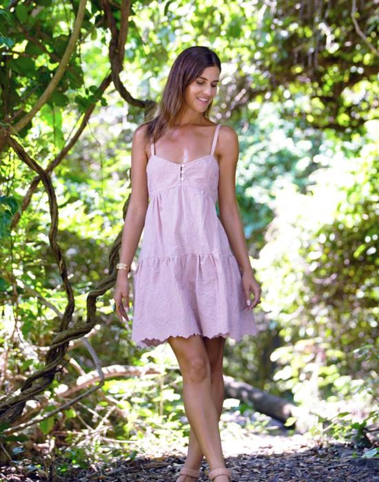 Leah Mini Dress – Blush