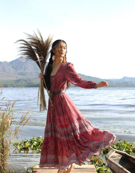 Shanaya Gown – Scarlet