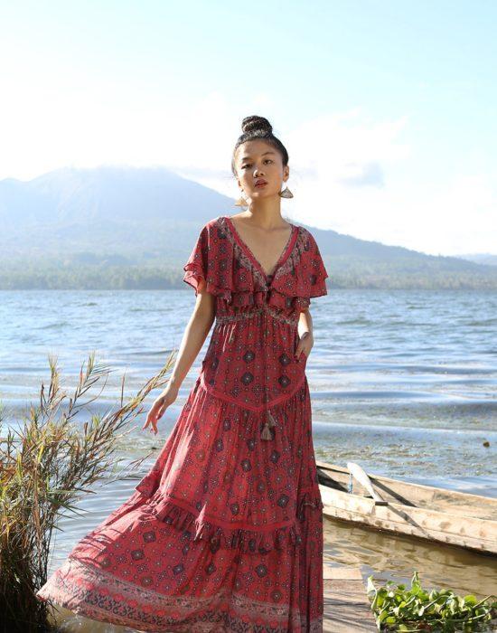 Yasmine Gown – Scarlet