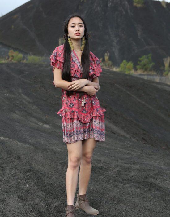 Yasmine Mini Dress – Scarlet