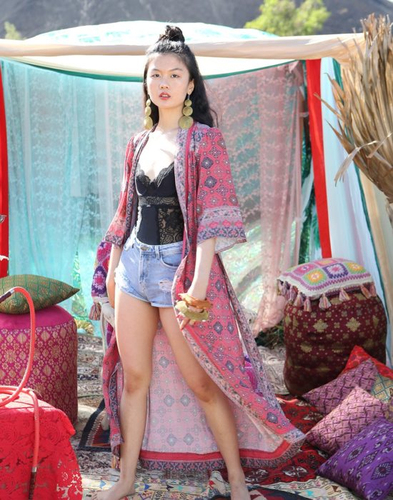 Zaara Robe Kimono – Scarlet