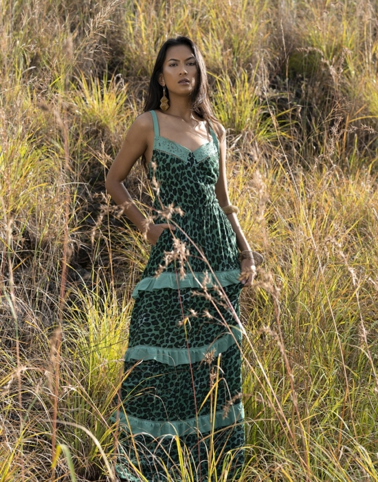 Tabitha Maxi Dress – Emerald