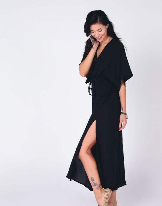 Hasina Boho Maxi Dress | Black