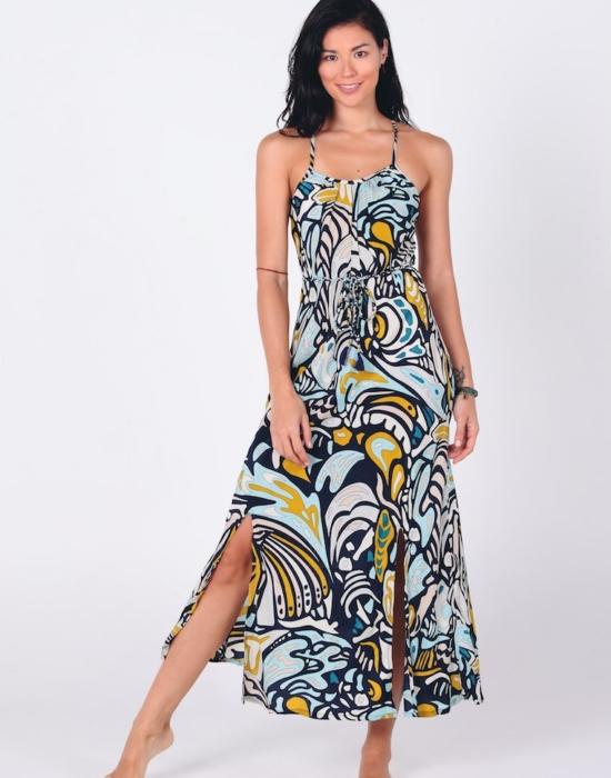 Sonia Racerback Dress | Retro Blue