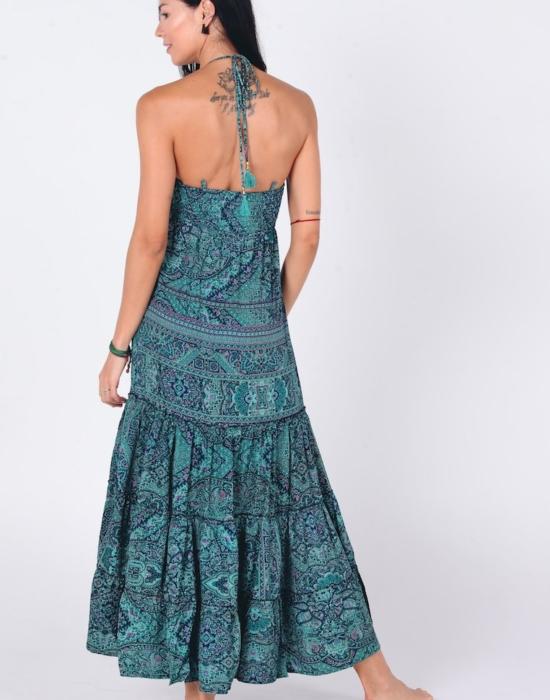 Emilie Maxi Dress | Green Sari