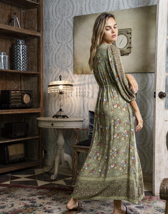 Roseanne Boho Dress – Olive