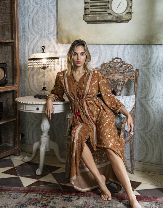 Roseanne Boho Dress – Terracotta