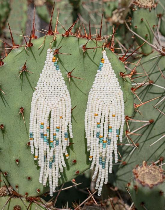 wind whispers seed bead earrings