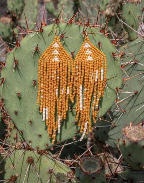 earth warrior seed bead earrings