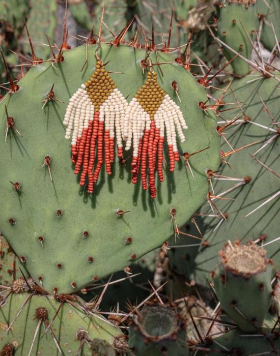 earth child seed bead earrings