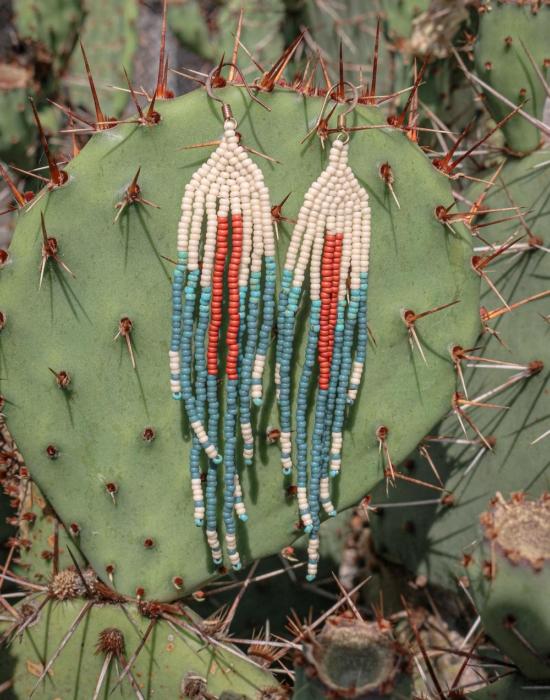Kida seed bead earrings