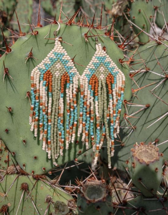 gaia seed bead earrings