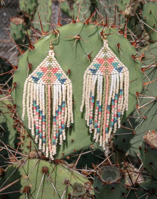 love me tender seed bead earrings