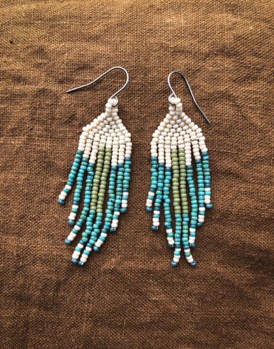little kida seed bead earrings