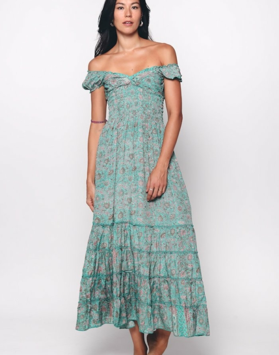 Bella Dress   Turquoise Blue