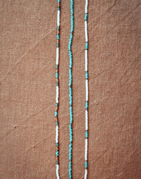 fallen skystone seed bead choker