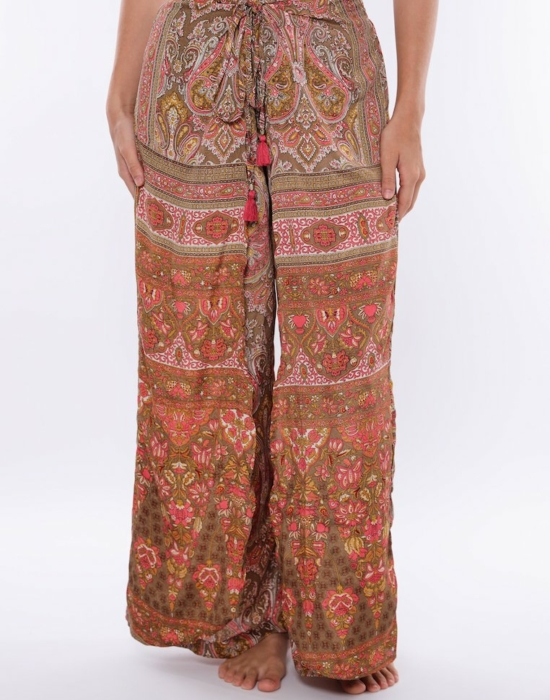 Mary Gold Lounge Pants   Pink & Brown