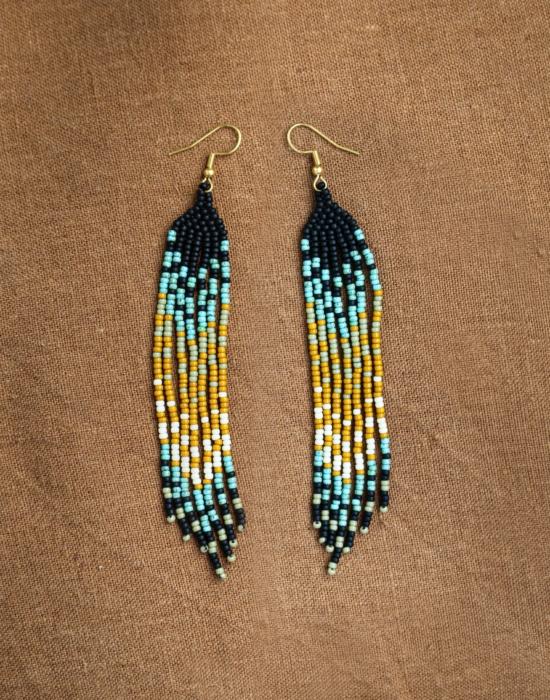 dusk till dawn seed bead earrings