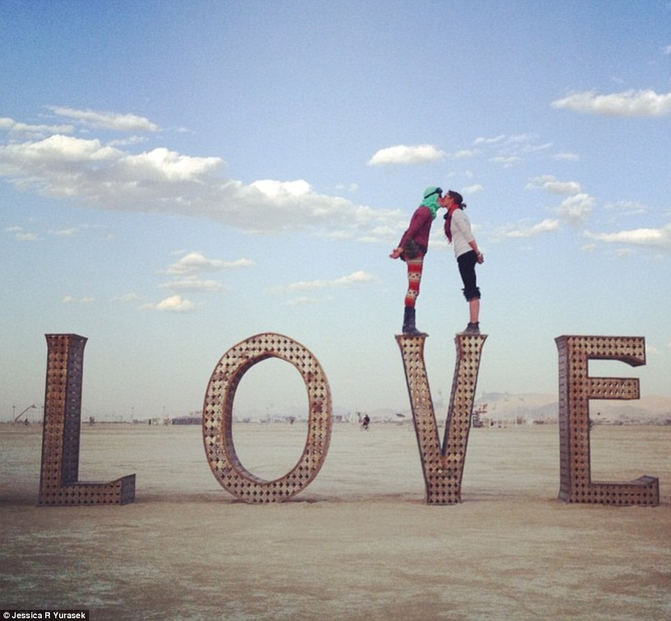 love and peace - burning man 2014