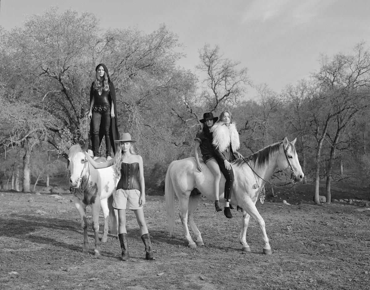 Flaunt Magazine 's denim issue - photographer Scott Pommier