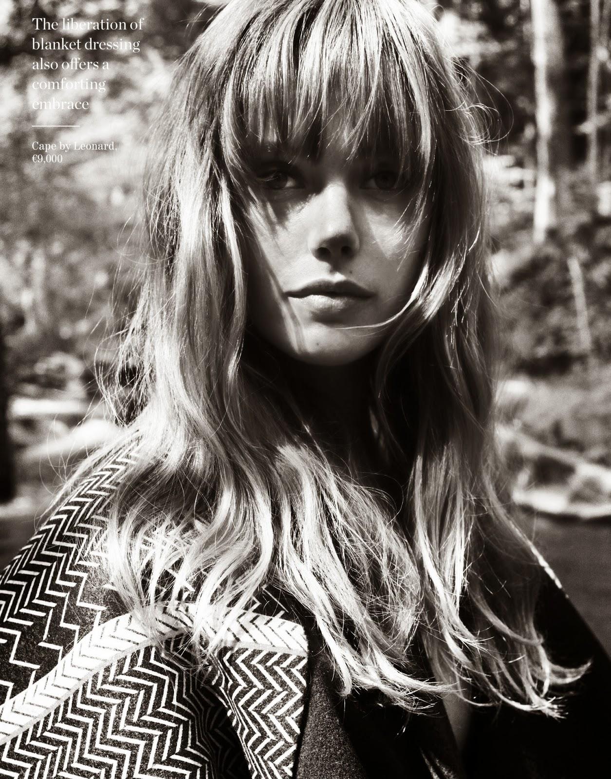 model Frida Gustavsson with make-up from Sam Addington