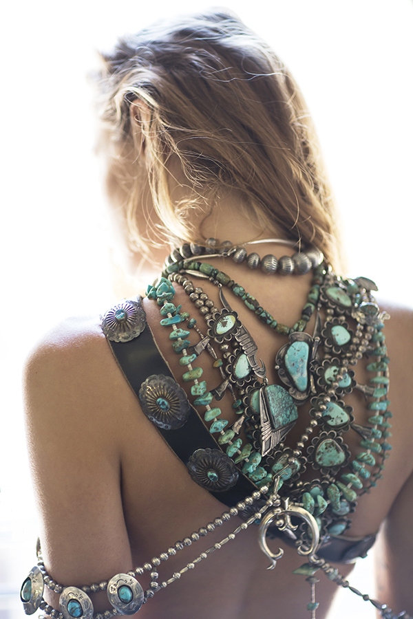 jewelry worn by model Abby Brothers