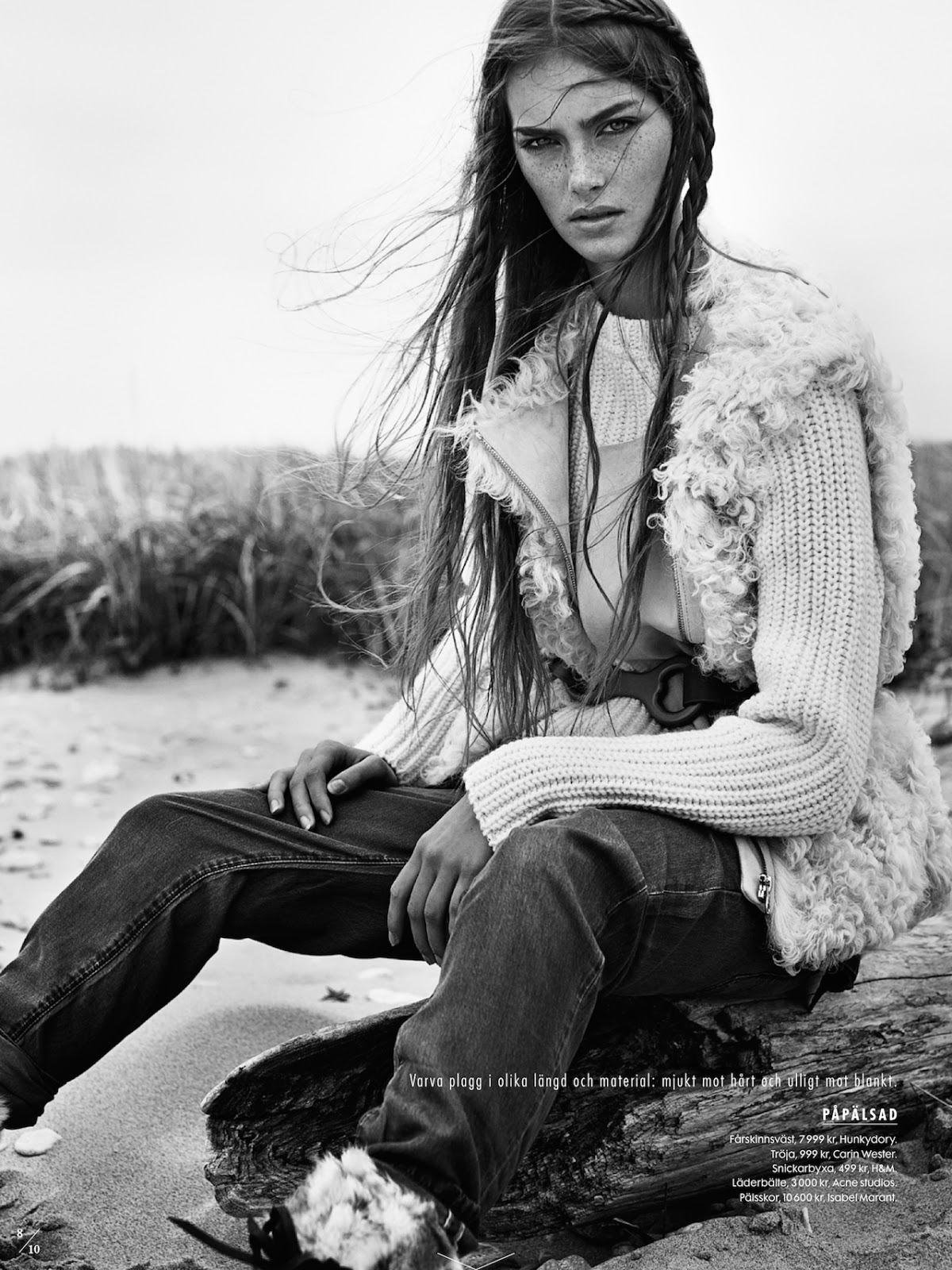 Elle Sweden November 2014 Naturbarn- hair by Ignacio Alonso