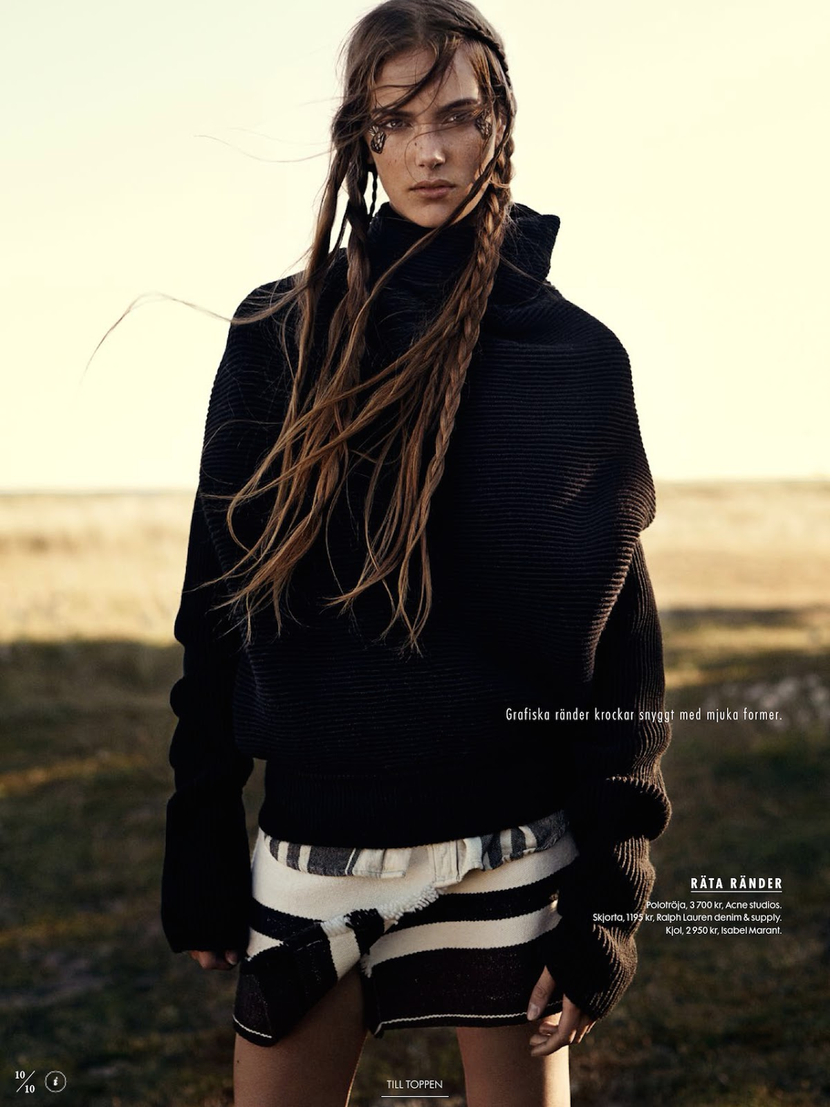 model Stina Olsson in Elle Sweden´s Naturbarn