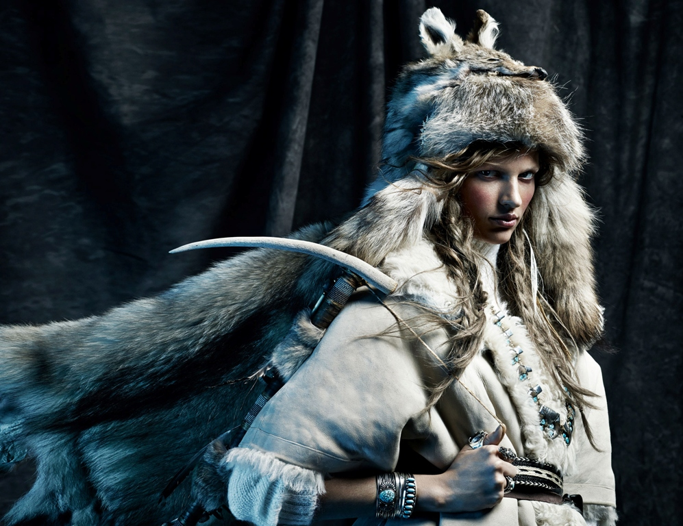 Winter is coming - model Bette Franke